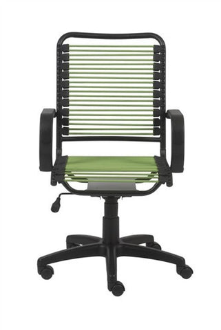 Comfortable Bungee Office Chair with Green Supports