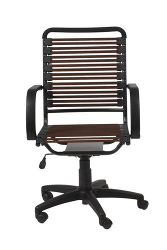 Comfortable Bungee Office Chair with Brown Supports