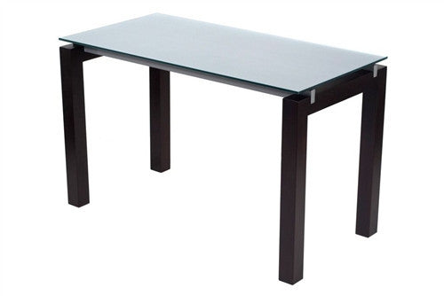 Billings Premium Modern 48 Quot Glass Desk With Wenge Finish