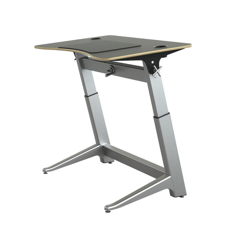 "48"" Standing Height Desk with Black Top and Built-In Cup Holders"