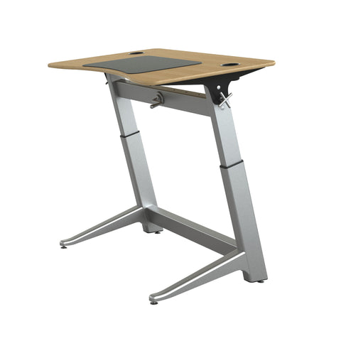 "48"" Standing Height Desk with Oak Top and Built-In Cup Holders"