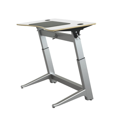"48"" Standing Height Desk with White Top and Built-In Cup Holders"
