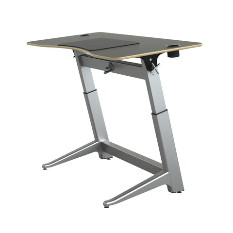"60"" Standing Height Desk with Black Top and Built-In Cup Holders"