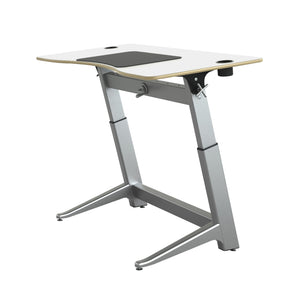"60"" Standing Height Desk with White Top and Built-In Cup Holders"