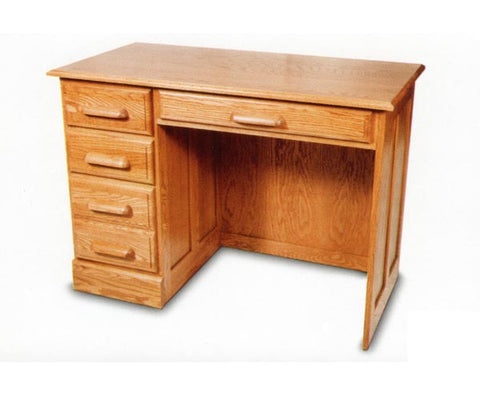 Solid Oak Single Pedestal Office Desk with Finish Options