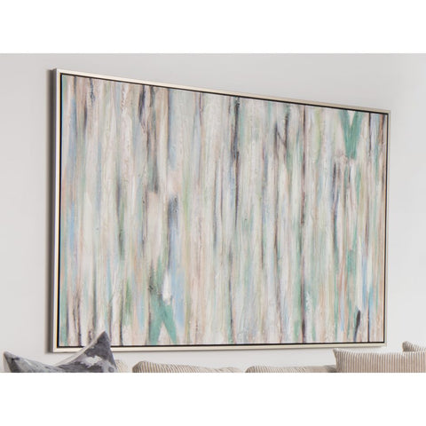 "48"" x 70"" Soft Acrylic Wall Art in Warm Green & Blue"