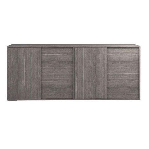 "79"" Understated Grey Storage Credenza"