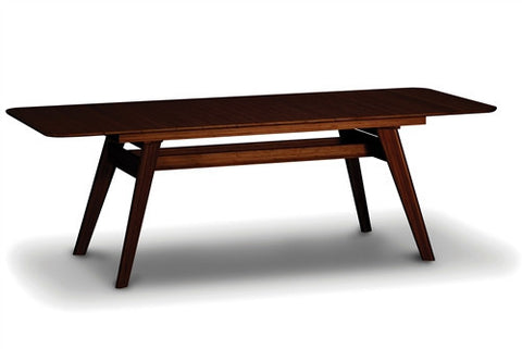 "72"" Solid Bamboo Modern Desk or Conference Table with Extension in Dark Walnut"
