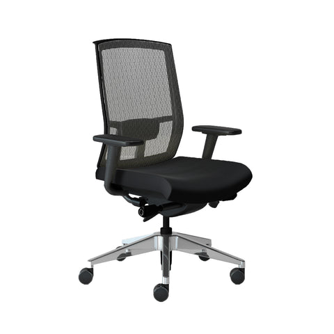 Quality Adjustable Office Chair in Black with Silver Mesh