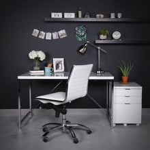 Load image into Gallery viewer, Classic Armless White Swivel Office Chair