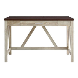 "46"" Natural Office Desk in Classic Farmhouse Style"