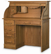 Load image into Gallery viewer, Handcrafted Solid Oak Single Pedestal Desk with Hutch