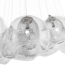Load image into Gallery viewer, Elegant Pendant Light with Clear Glass Orb Shades and Intricate Frosted Globes