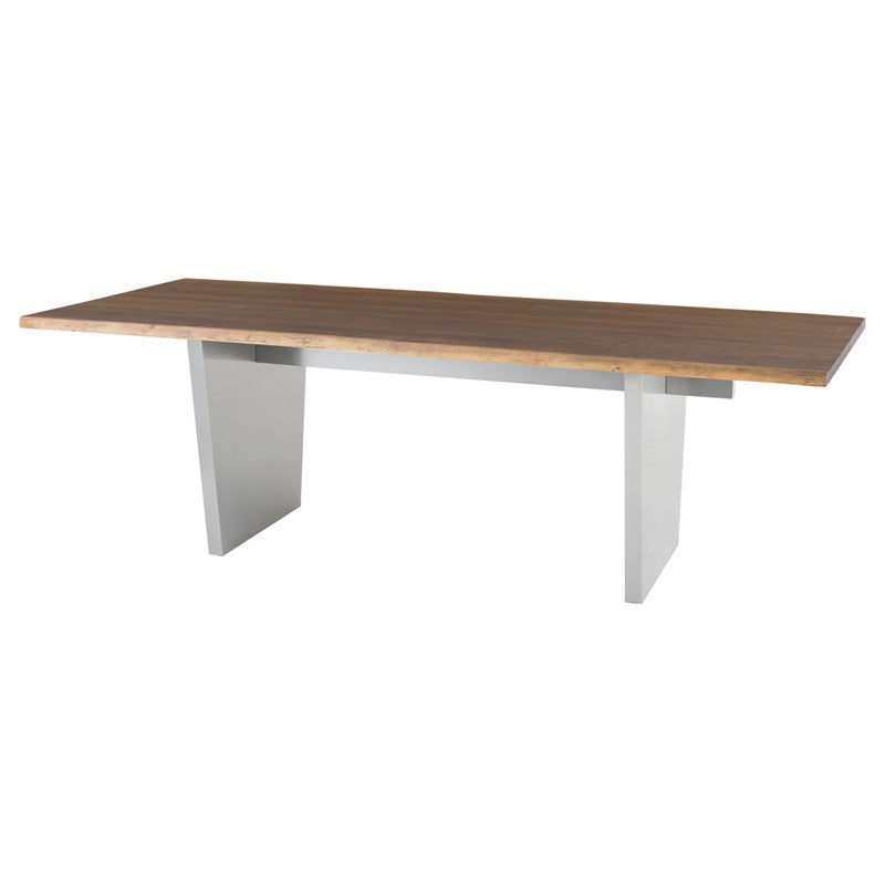 Stunning Seared Oak Conference Table w/ Stainless Steel Base (Multiple Sizes)