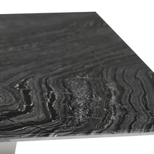 "Load image into Gallery viewer, 78"" Black Woodgrain Marble Executive Desk w/ Leg Options"