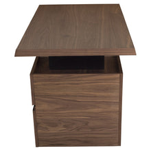 "Load image into Gallery viewer, Sophisticated & Compact 60"" Office Desk in Wood & Steel"