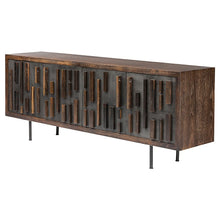 Load image into Gallery viewer, Wide Seared Oak Storage Credezna w/ Old World Aesthetic