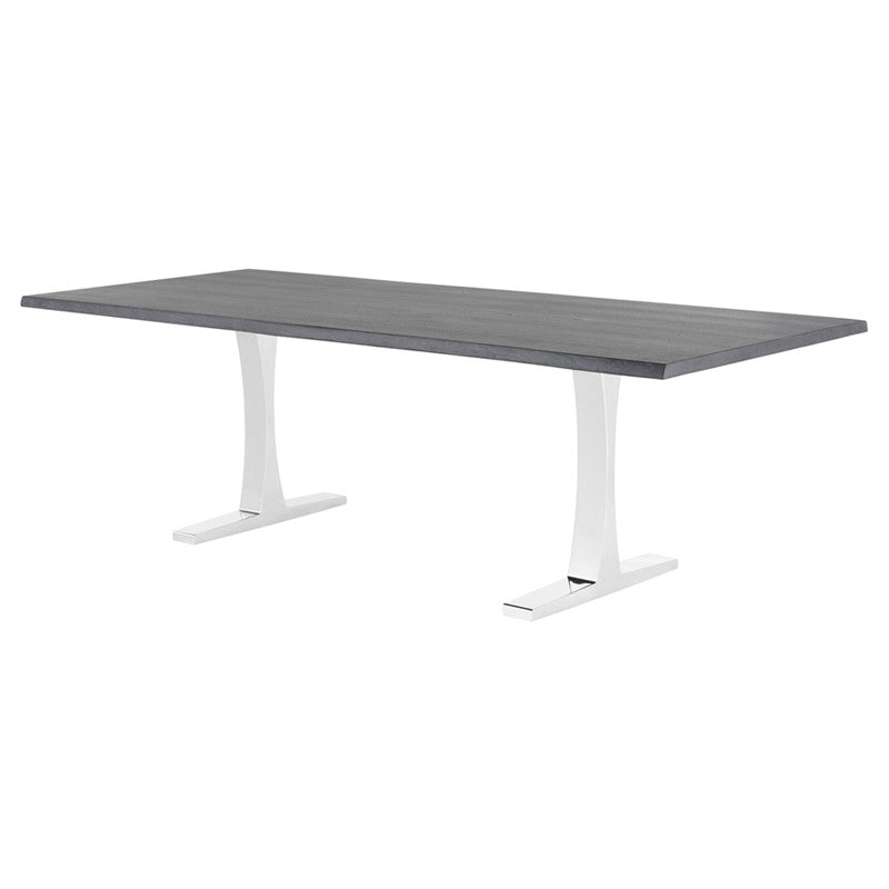 Chic Modern Conference Table in Oxidized Grey Oak & Steel (Multiple Sizes)