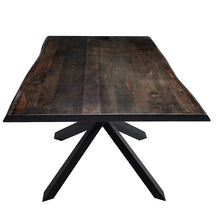 "Load image into Gallery viewer, Stunning Seared Oak & Matte Black 112"" Conference Table"