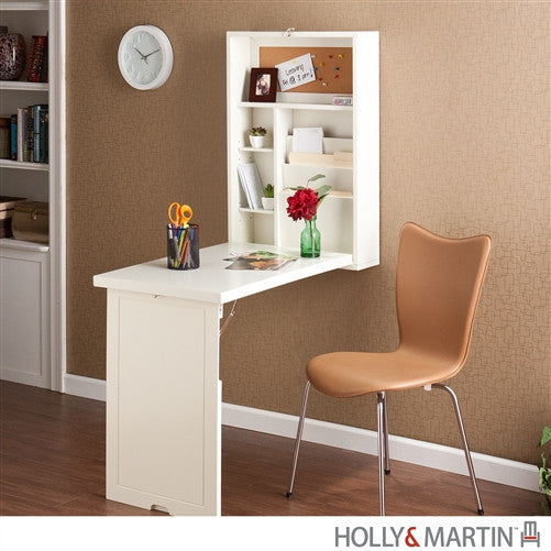 Wall Mounted White Folding Desk