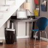 "Modern 48"" Black Sawhorse Desk with Backsplash"
