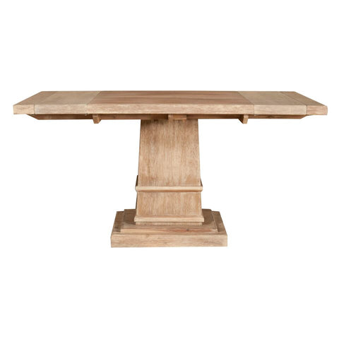 "44"" - 64"" Square Stone-Washed Acacia Meeting Table"