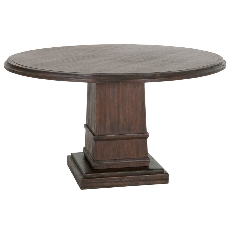 "54"" Classic Rustic Java Round Meeting Table"