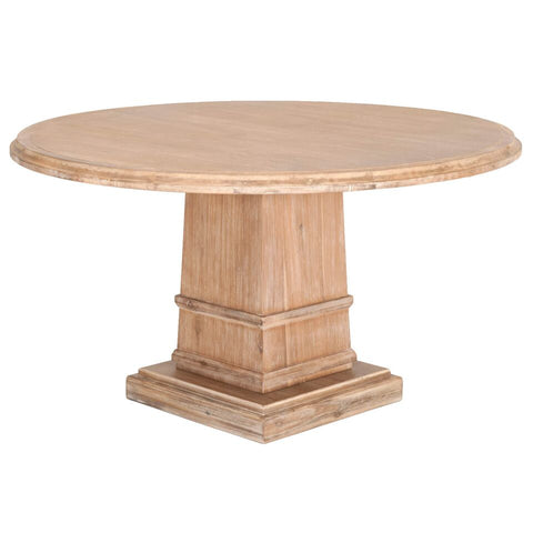 "54"" Classic Acacia Round Meeting Table"