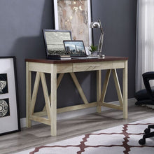 "Load image into Gallery viewer, 46"" Natural Office Desk in Classic Farmhouse Style"