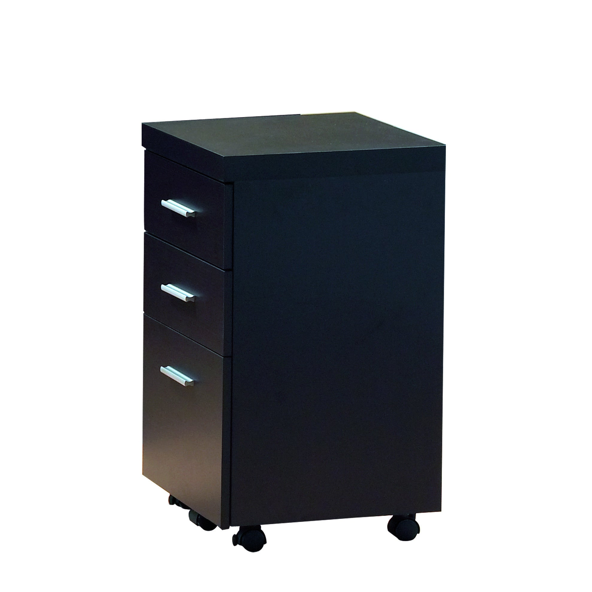 Modern Cappuccino L Shaped Desk With Two Drawers