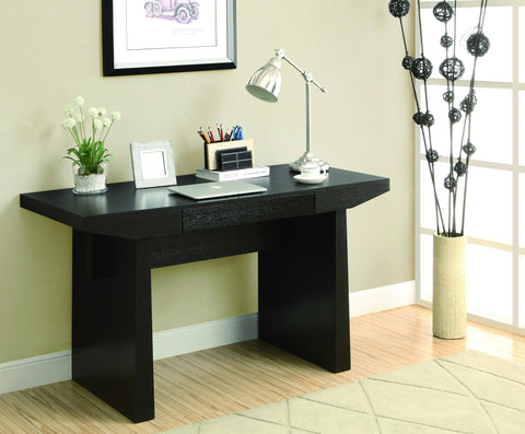 "54"" Modern Cappuccino Office Desk with Central Drawer"