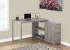 Dark Taupe L-shaped Corner Computer Desk with Storage