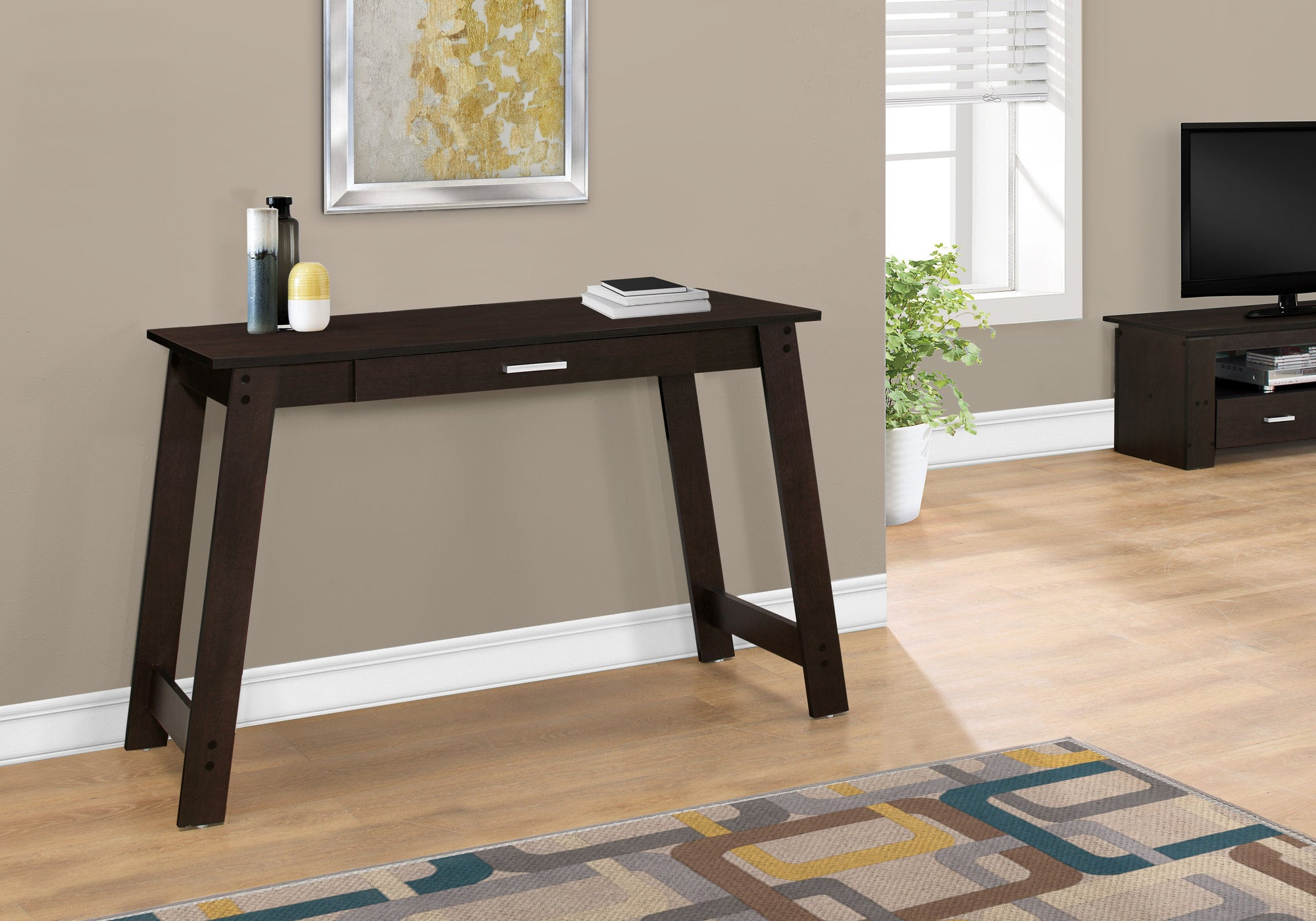 """Cappuccino 34"""" Office Desk with Compact & Stylish Design"""