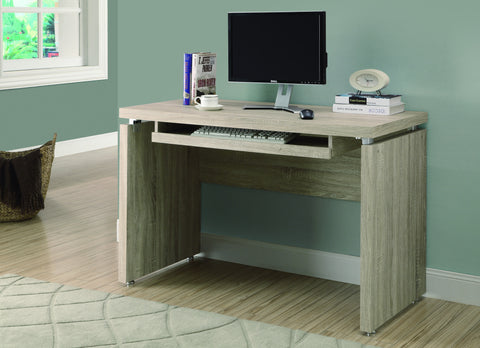 "48"" Modern Computer Desk with Floating Top in Natural Reclaimed Finish"