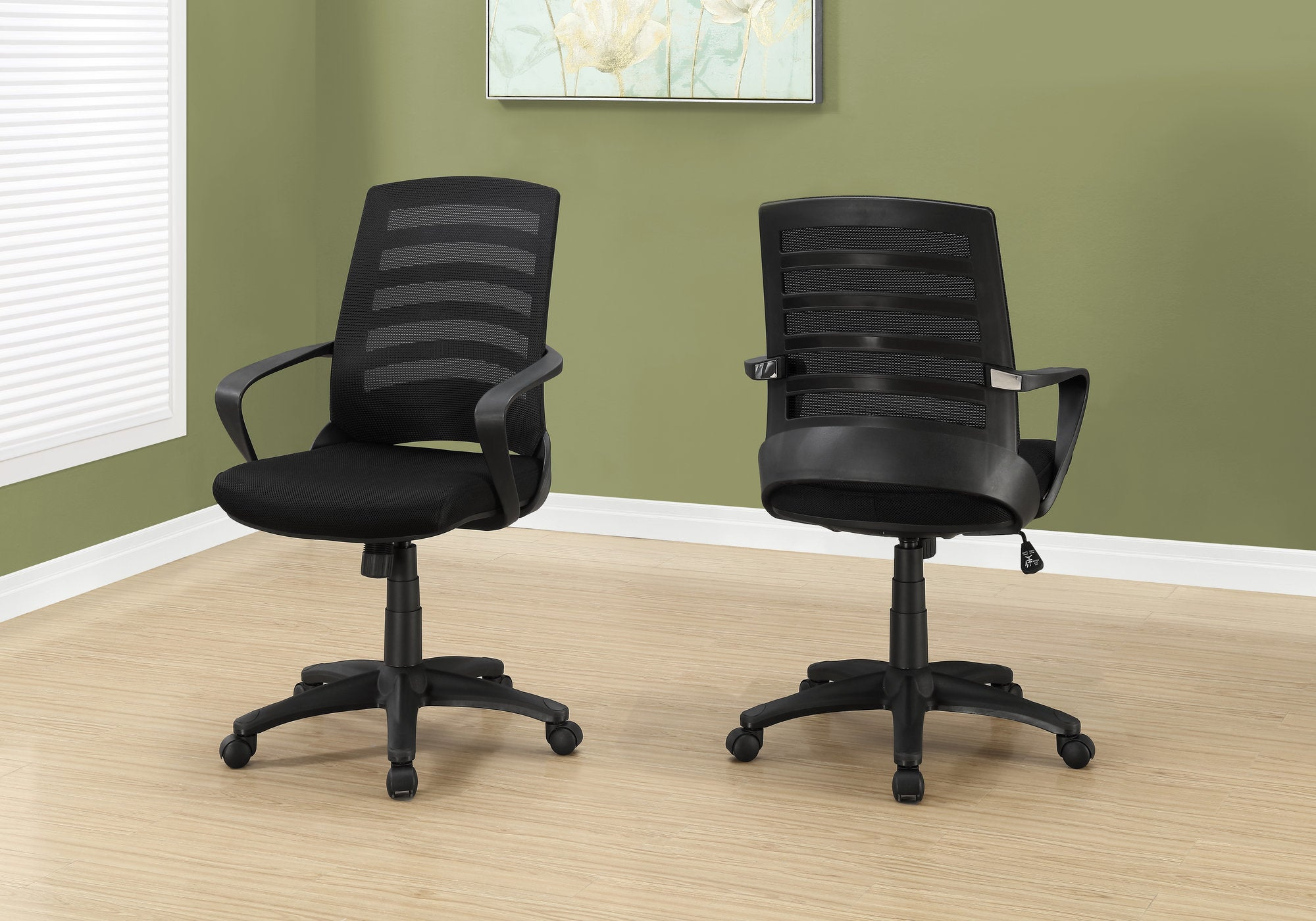 Ergonomic Black Mesh Rolling Office Chair w/ Arms