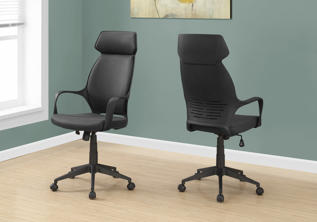 Classic Black Microfiber Office Chair w/ High Back