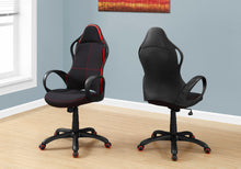 Load image into Gallery viewer, Eye-Catching Black and Red Office Chair