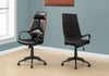 Rolling Black & Brown Leatherette Ergonomic Office Chair