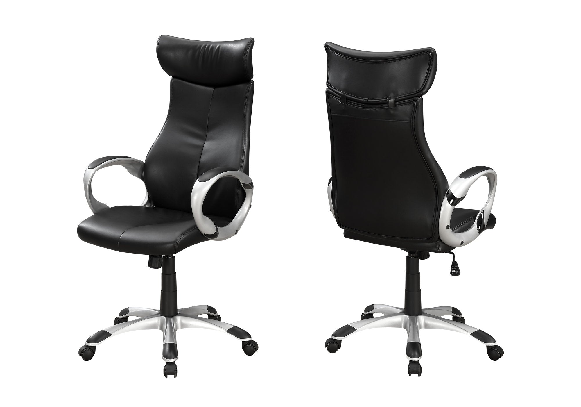 Grand Office Chair in Breathable Black Leatherette