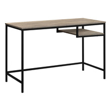 "Load image into Gallery viewer, 48"" Computer Desk in Taupe & Black"
