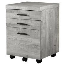 "Load image into Gallery viewer, 60"" L-Shaped Office Desk in Grey Woodgrain"