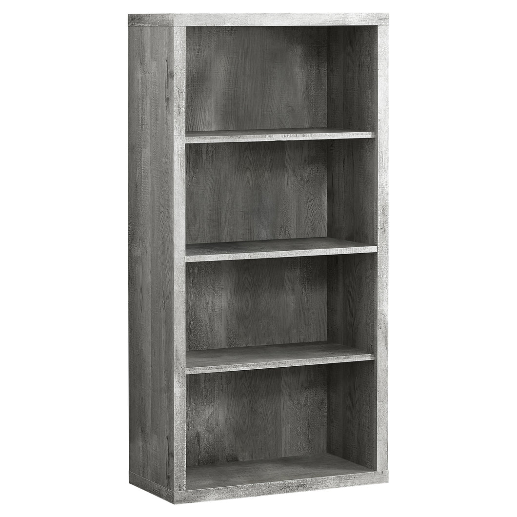 Traditional Office Bookcase in Grey Woodgrain