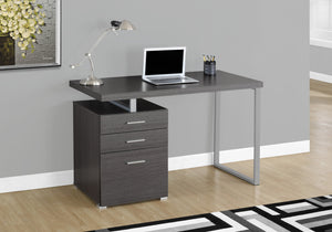 "47"" Grey Computer Desk w/ Metal Accents"