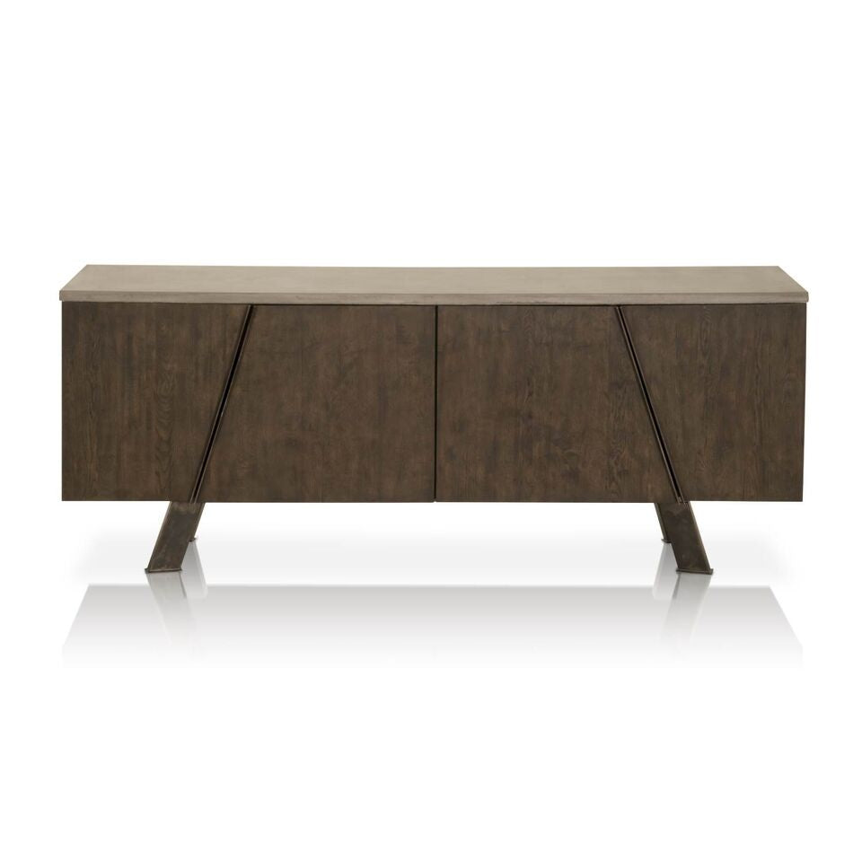"79"" Sophisticated Oak Storage Credenza"