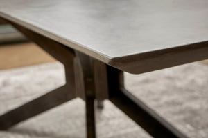 "87"" Gray Ash and Distressed Iron Conference Table"