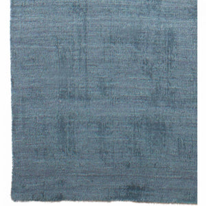 Understated Ocean Blue Wool Office Rug, 5 X 8