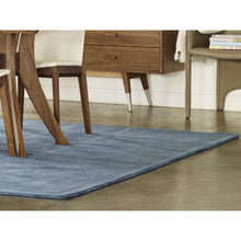 Load image into Gallery viewer, Charming 8 x 10 Wool Rug in Ocean Blue
