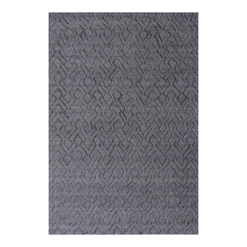 5 x 8 Wool Office Rug in Dark Grey