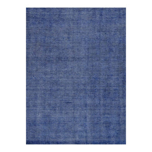 5 x 8 Blue Office Rug w/ Subtle Patterning