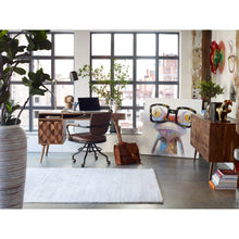 Load image into Gallery viewer, 5 x 8 Ivory Office Rug w/ Horizontal Patterning